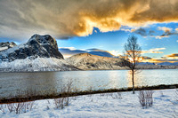 winter landscape of Bergsfjorden, Senja 2016