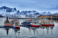 fishing vessels in harbour of Husøy