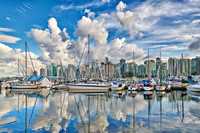 Skyline and marina of Vancouver