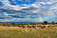 rainbow over Great Rift Valley