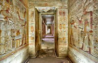 hieroglyphs, stone carving and  wall paintings