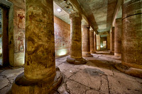 room with columns in Temple of Seti I