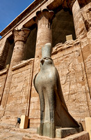 Horus statue in Temple of Edfu