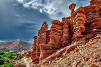 monkey fingers, spectacular rock landscape