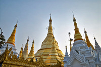 main and smaller stupas of SHWEDAGON PAGODA