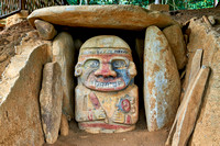 El Purutal, painted stone carved figures