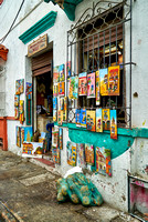 small shop with paintings