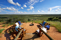 view from main area Polentswa Tented Camp