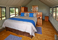interior view of room in Polentswa Tented Camp