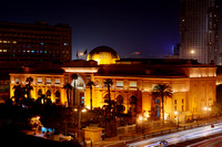 night shot of Egytian Museum