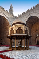 inner courtyard of Sultan Hassan Mosque