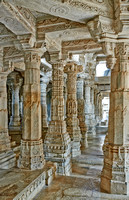 stone carved columns