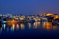 night shot of Udaipur city view