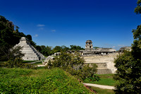 overview of Maya archaeological site Palenque