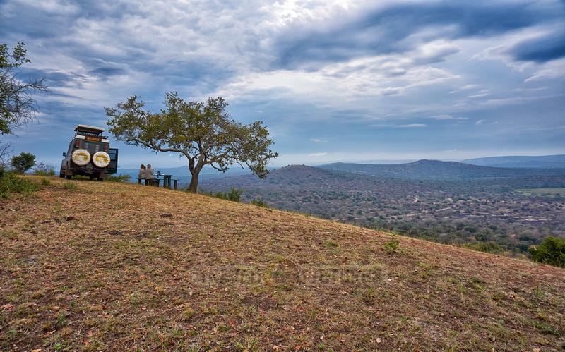 picninc at view point of Lake Mburo