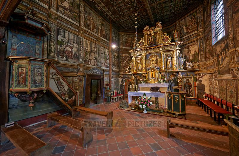 Interior shot of St. Michael Archangel Church, Binarowa