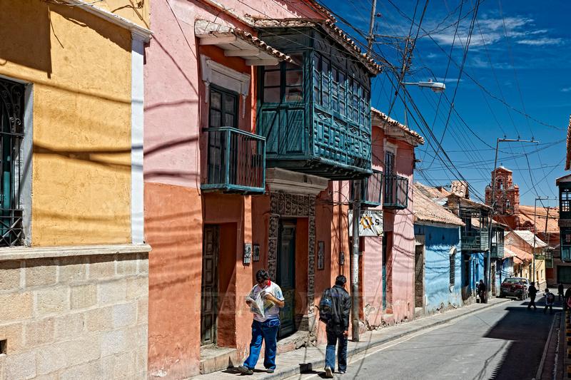 Colourful colonial architecture