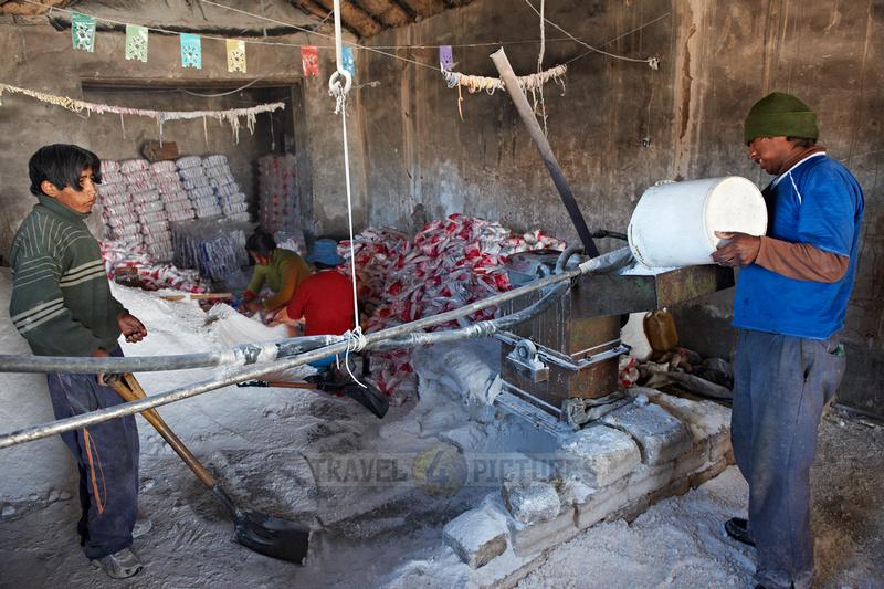 worker preparing salt
