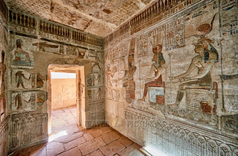 stone carving inside Hathor temple
