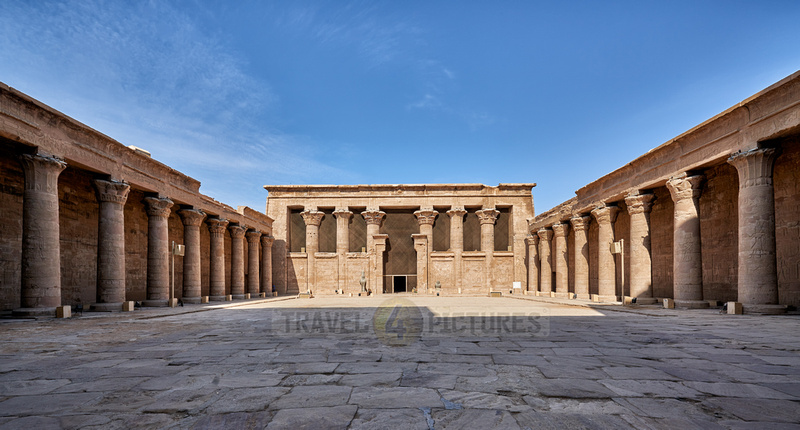 Colonades surrounding the peristyle court and Horus Temple of Edfu