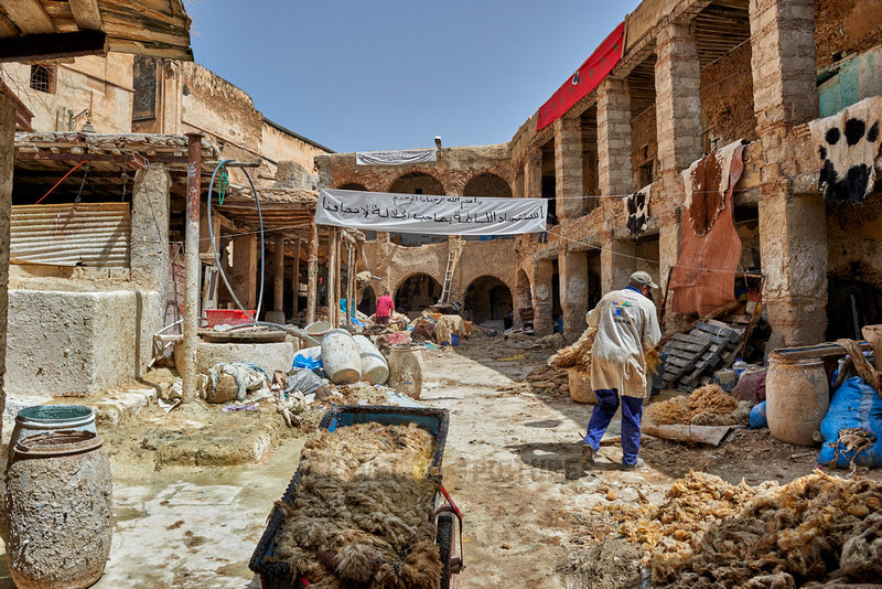morbid leather tannery in Old Fez