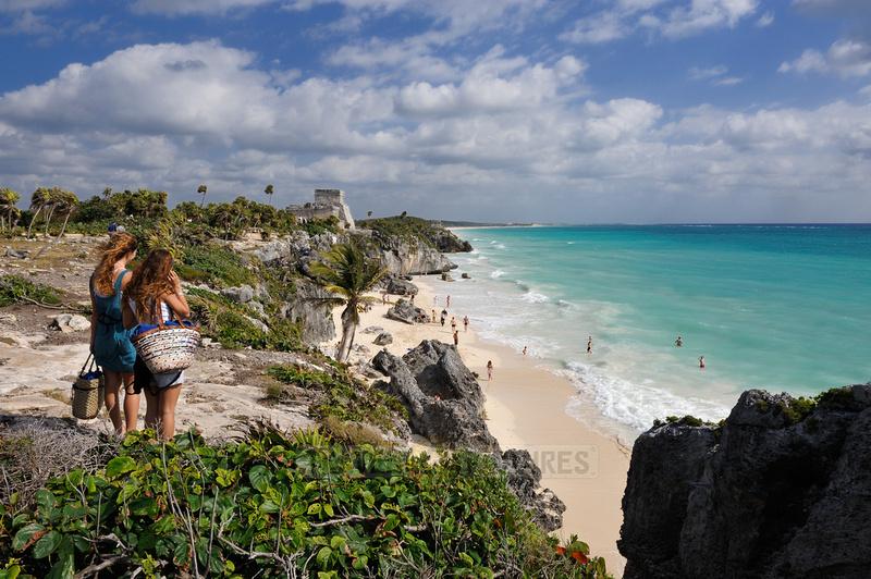 The seaside view of El Castillo