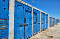 blue fishery sheds of Essaouira, 05-2016