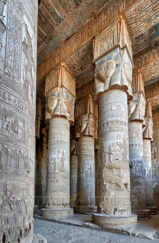 Hypostyle Hall of Hathor temple