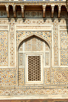 brilliant marble decorated wall with inlay work
