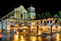 night shot of Iglesia de San Francisco