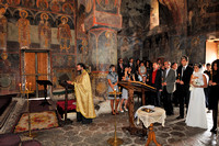 wedding inside Gremi Fortress Monastery