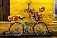 bike decorated with souvenirs