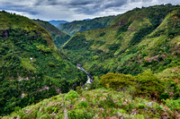 deep valley in Andes landscape at La Chaquira