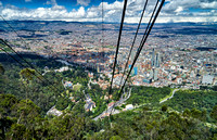 birds eye view from Cerro de Monserrate onto Bogota