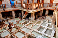 refurbished leather tannery in Old Fez