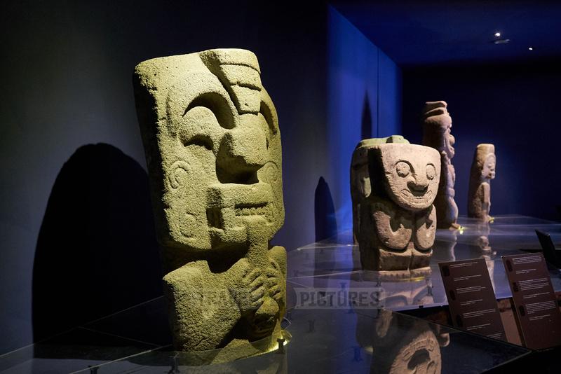 sculptures inside museum of San Agustin