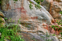 Rock art, ancient San paintings, Tsodilo Hills