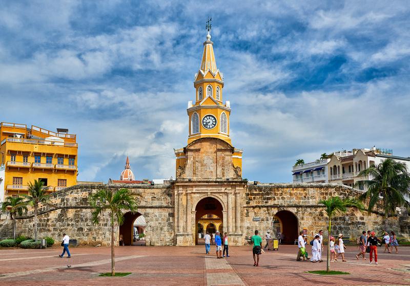 Torre del Reloj and Plaza de la Paz