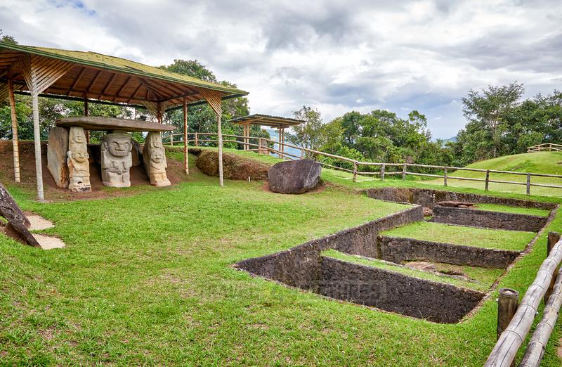 Mesita A of archaeological park Parque Arqueologico De San Agustin