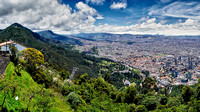 birds eye view from mount Cerro de Monserrate onto Bogota
