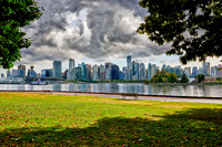 Skyline of Vancouver seen from Stanley Park