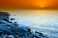 sun set at Dead Sea