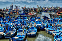 fishing boats in harbor of Essaouira