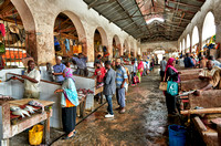 local market in Stone Town, Zanzibar 10-2015
