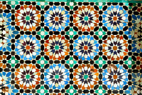 tiles with colorful pattern